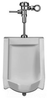 """Commercial Washdown Urinal - 0.5 GPF, 3/4"""" Top Spud Inlet, White"""