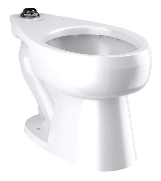 Floor Mount Water Closet - Elongated Bowl, White