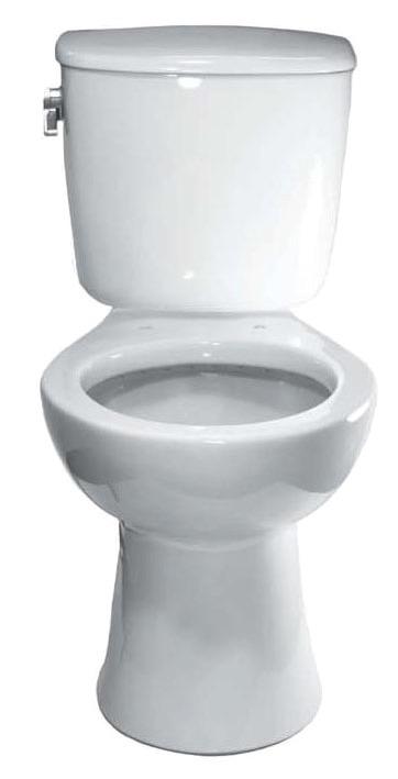 Floor Mount Elongated Toilet Bowl - White, 1.6 Gpf