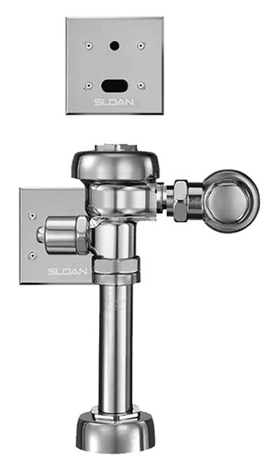 """Water Closet Flushometer - Optima / Royal, Quiet, Exposed, Diaphragm Type, 11.5"""" Rough-In, 1.6 GPF"""
