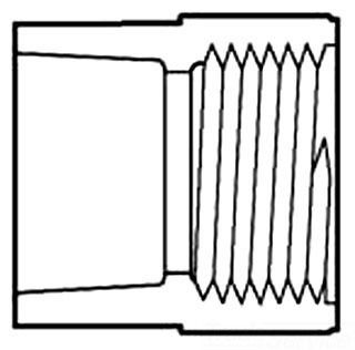 "2"" PVC Female Straight Adapter - SCH 40, Socket x FPT"