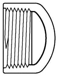 "3/4"" PVC Round Head Cap - SCH 40, FPT"
