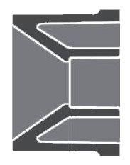 "2"" x 1-1/2"" PVC Flush Reducing Bushing - SCH 80, Spigot x Socket"