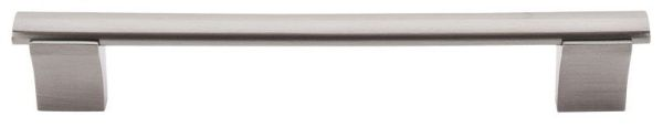 """Brushed Satin Nickel Cabinet Wellington Bar Pull - Bar Pulls, Contemporary Style, 6-5/16"""" Center to Center, Steel"""