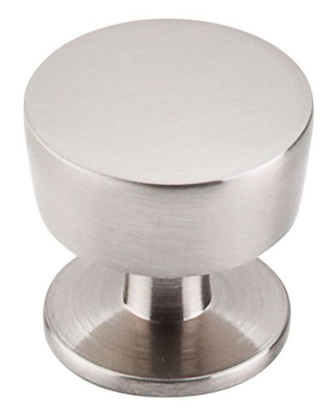 Brushed Satin Nickel Zinc Alloy Cabinet Essex Knob - Nouveau III, Contemporary Style