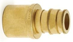 "3/4"" Brass Transition Straight Adapter - ProPEX, PEX x Copper"