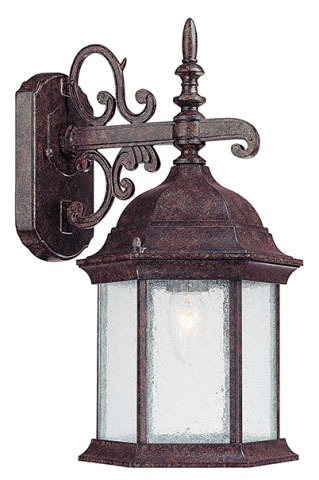 1-Light 100 W Incandescent Outdoor Wall Lantern - Main Street, New Tortoise