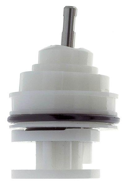 Hot/Cold Lever Faucet Cartridge, Plastic/Brass