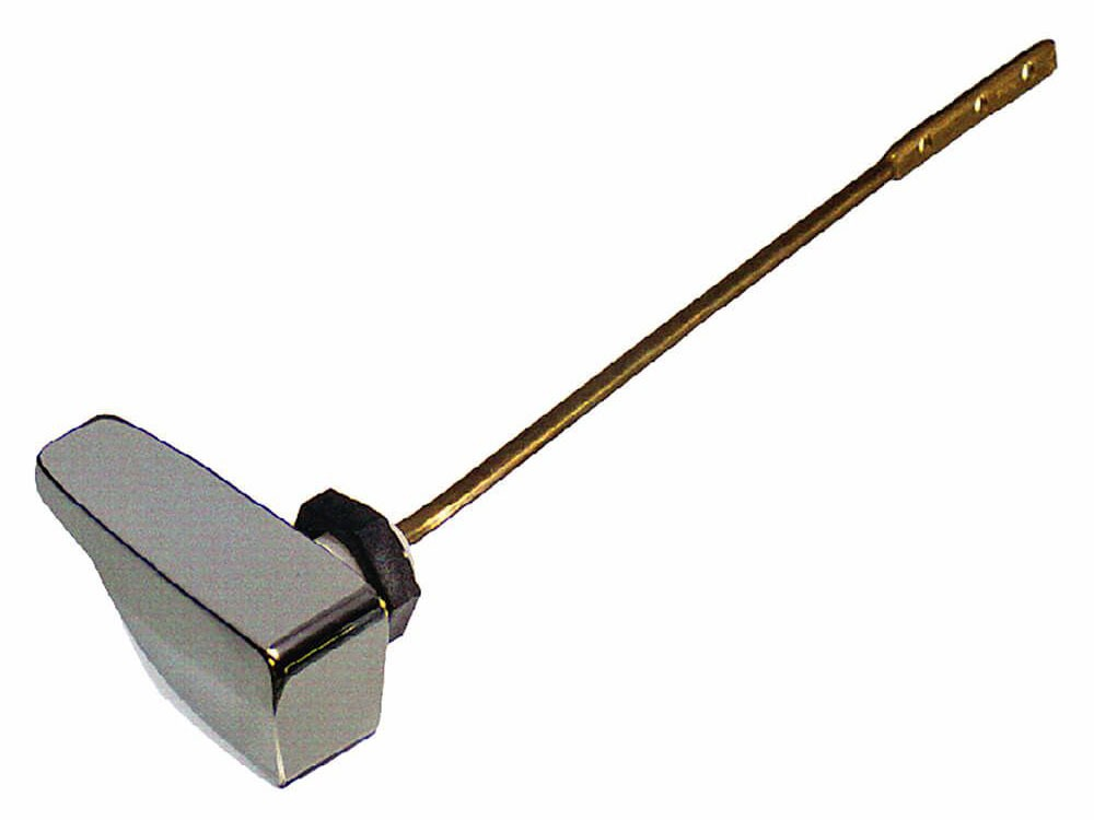 """9-1/4"""" Metal Arm Toilet Tank Lever - Chrome Plated Handle, Side Mount"""