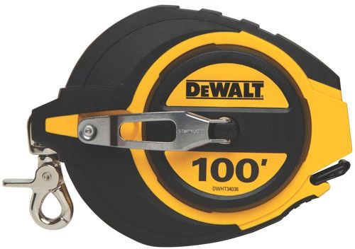 100' Closed Reel Measuring Tape, Lacquer