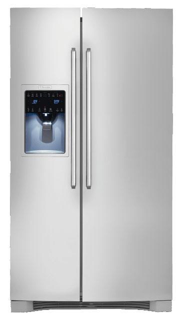 "36"" Side-By-Side Refrigerator - Stainless Steel, 25.93 Cu Ft, 3-Shelf"
