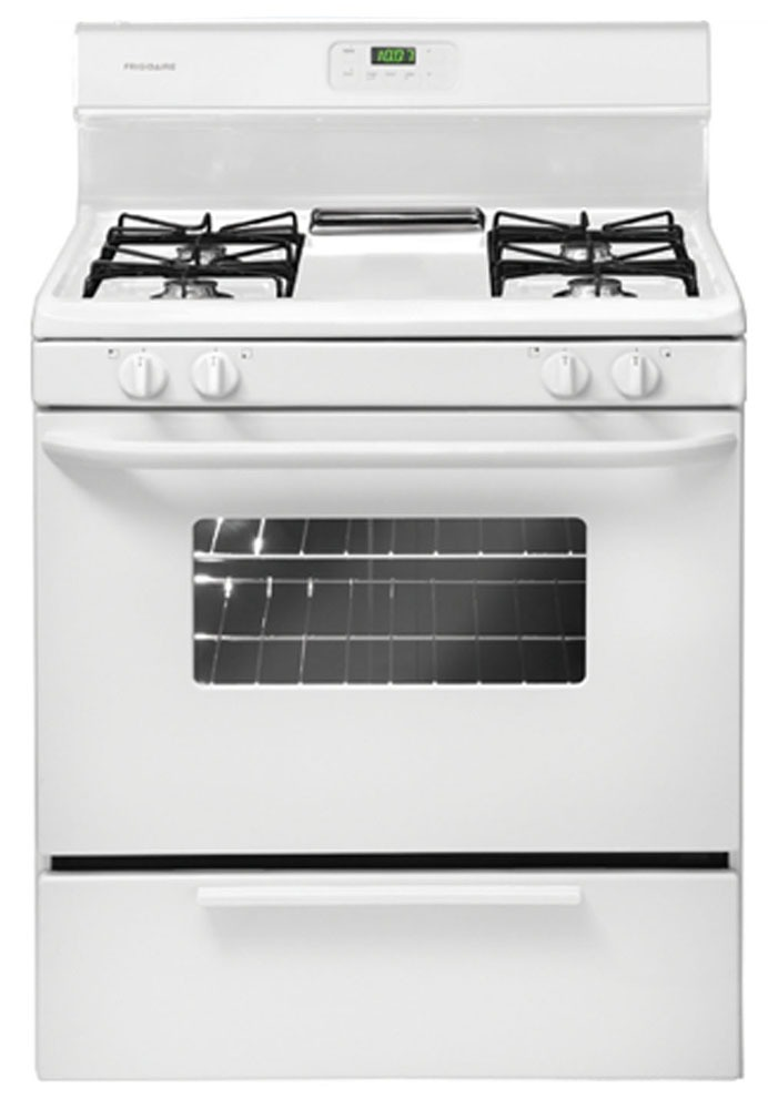 "30"" Freestanding Gas Range - 120 VAC, 15 A, White"