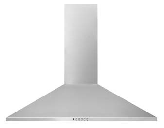 "30"" Wall Mount Ventilation Hood with Glass Canopy - Stainless Steel, 4 A, 400 CFM"