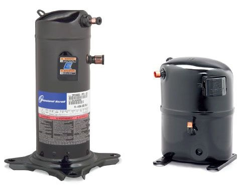 31200 BTU Air Conditioner Compressor - Copeland, 460 VAC, 3-Phase, 6.4 A Rotor Load / 38 A Locked Rotor