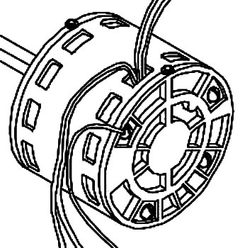 1/3 HP 115 V Gas Furnace Blower Motor