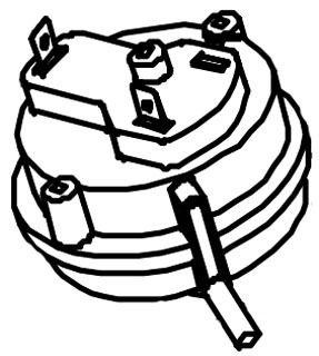 "Gas Furnace Standard Pressure Switch - 1.1"" WC Open / 1.3"" WC Close Blower Switch, 1.6"" WC Open / 18"" WC Close Transition Switch"