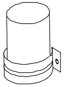 35/3 Microfarad 440 V Air Conditioner Run Capacitor - Round