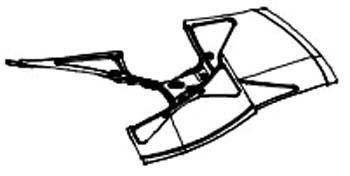 "24"" Heat Pump Fan Blade - 19D Pitch, Clockwise, 1/2"" Shaft, 3-Blade"