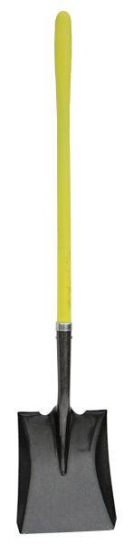 Straight Square Point Shovel, Fiberglass Handle