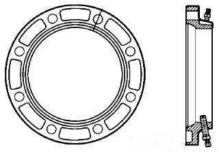 "6"" Ductile Iron Domestic Adapter Flange"