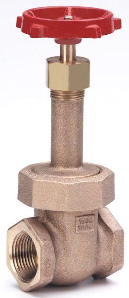 """1-1/2"""" Bronze Solid Wedge Gate Valve - Handwheel, FPT, 300 psi WOG, 150 psi SWP"""