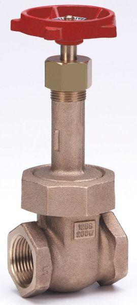 """1-1/2"""" Bronze Solid Wedge Gate Valve - Handwheel, FPT, 200 psi WOG, 125 psi SWP"""