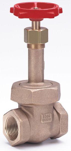 """1"""" Bronze Solid Wedge Gate Valve - Handwheel, FPT, 1000 psi WOG, 300 psi SWP"""