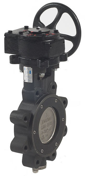 "8"" Carbon Steel Gear Operated Butterfly Valve - Lug, Flanged, 150 psi, 285 psi"