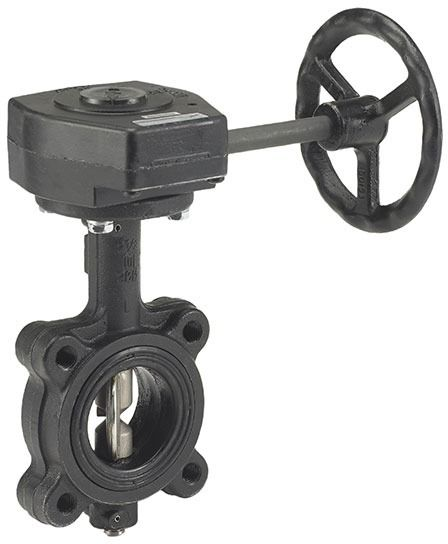 """6"""" Ductile Iron Gear Operated Butterfly Valve - UltraPure, Lug, 200 psi WOG"""