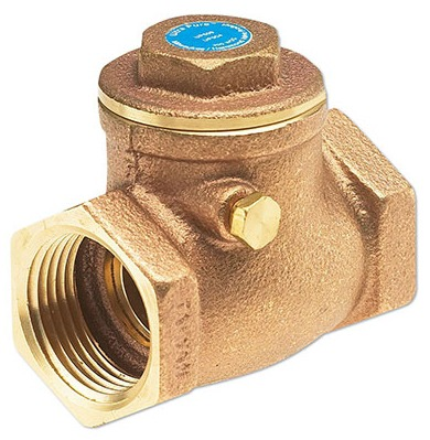 "1/2"" Bronze Swing Check Valve - UltraPure, FPT, 300 psi WOG"