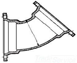 """3"""" Cast Ductile Iron Import Short Body Lined Pipe Bend"""
