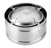"""4"""" Double Wall Round High Wind Vent Top, Galvanized Steel/Aluminum"""