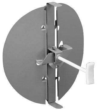 """6"""" Butterfly Round Snap-In Diffuser Damper, Brown Steel"""