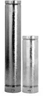 """6"""" x 2' Aluminum / Galvanized Steel Gas Vent Pipe - LOCKTAB"""