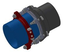 """6"""" Ductile Iron Pipe Restraint - Series PWM PV-LOK, Mechanical Joint"""