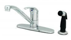Kitchen Faucet with Swivel Spout & Single Lever Handle - Polished Chrome, Deck Mount, 2.2 GPM