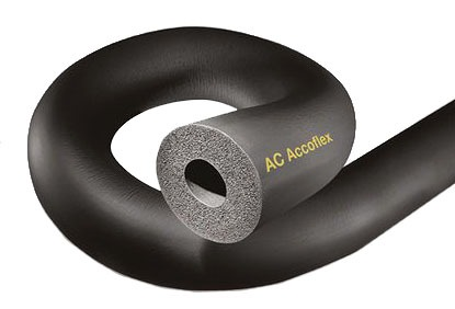 "2-1/8ID X 1/2"" Cellular Flexible Pipe Insulation, Rubber"
