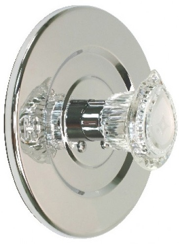 Knob Tub and Shower Faucet Trim Kit, Chrome Plated