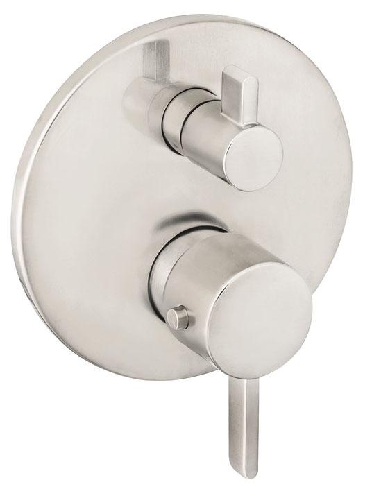 Thermostatic Volume Control Shower Valve - Ecostat, 6 GPM, Brushed Nickel
