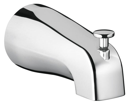 Wall Mount Diverter Tub Spout - Commercial, Chrome Plated
