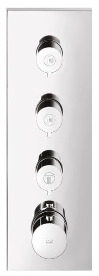 Thermostatic Shower Valve - Axor Urquiola, 16 GPM, Chrome Plated, 3-Function