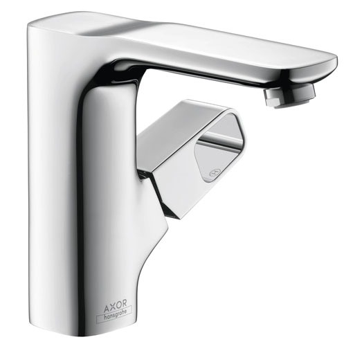 Bathroom Sink Faucet with Single Handle - Axor Urquiola, Chrome Plated, Deck Mount, 1.5 GPM