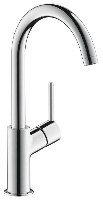 Bathroom Sink Faucet with 150D Swivel Spout & Single Lever Handle - Talis S, Chrome Plated, Deck Mount, 1.2 GPM