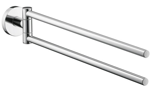 "17-1/2"" Double Round Towel Bar - Chrome Plated"