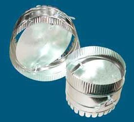 """10"""" Dovetail Duct Start Collar With Damper"""