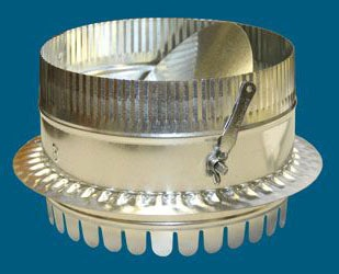 """14"""" Duct Board Start Collar With Damper And Scoop - For R4 (1"""") Duct Board"""
