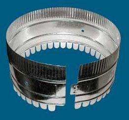 "9"" Dovetail Duct Start Collar - Unassembled, Optional Damper Holes"