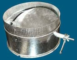 "4"" Round Spin-In Starting Duct Collar, Galvanized Steel"