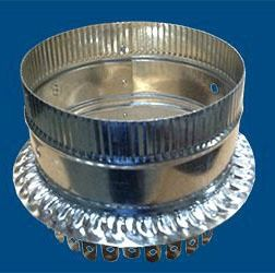 """10"""" Duct Board Start Collar- For R4-R6 (1""""-1.5"""") Duct Board, Optional Damper Holes"""