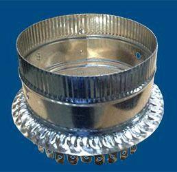 """10"""" Duct Board Start Collar - For R6-R8 (1.5""""-2"""") Duct Board, Optional Damper Holes"""